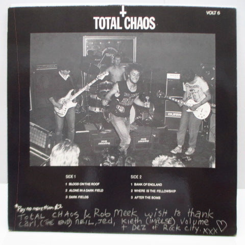 TOTAL CHAOS - Field & Bombs (UK Orig.MLP)