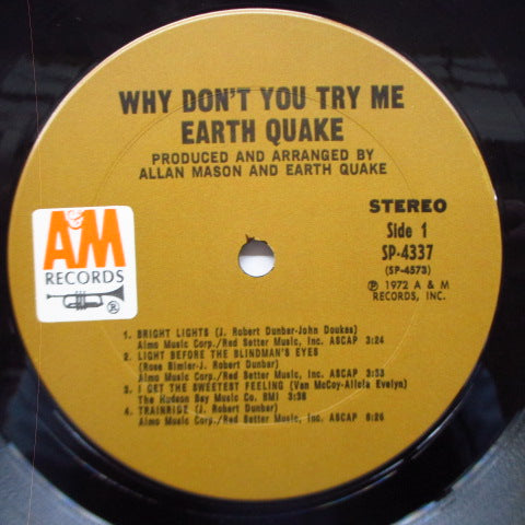 EARTH QUAKE (アース・クエイク)  - Why Don't You Try Me? (US Orig.LP)