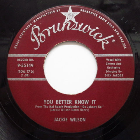JACKIE WILSON - You Better Know It (Orig.)