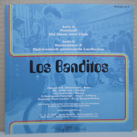 "LOS BANDITOS-Fuzzball +3 (Swiss Orig.Blue Vinyl 7 "")"