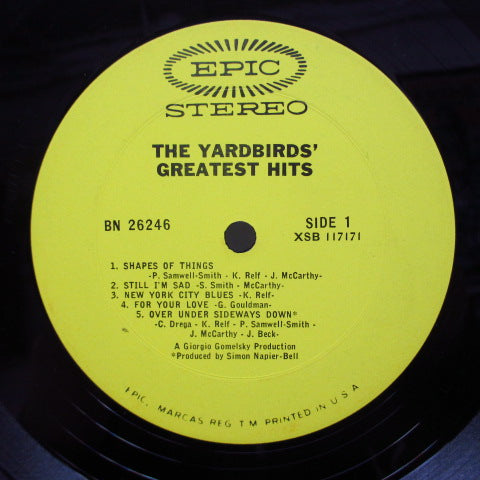 YARDBIRDS - Greatest Hits (US Orig.Strereo)