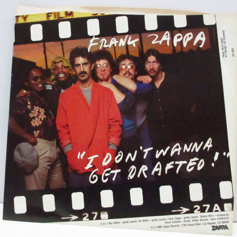 "FRANK ZAPPA (フランク・ザッパ)  - I Don't Wanna Get Drafted!(US Orig.7""+PS)"