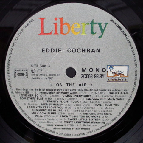 EDDIE COCHRAN - On The Air (France)