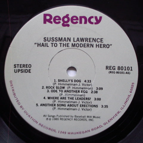 SUSSMAN LAWRENCE (サスマン・ローレンス)  - Hail To The Modern Hero! (US Reissue LP)