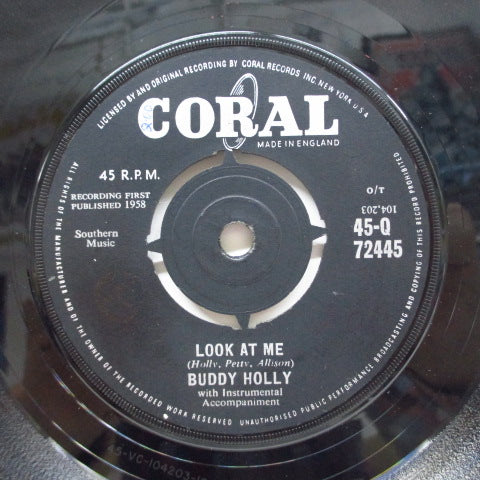 BUDDY HOLLY - Look At Me (UK Orig)