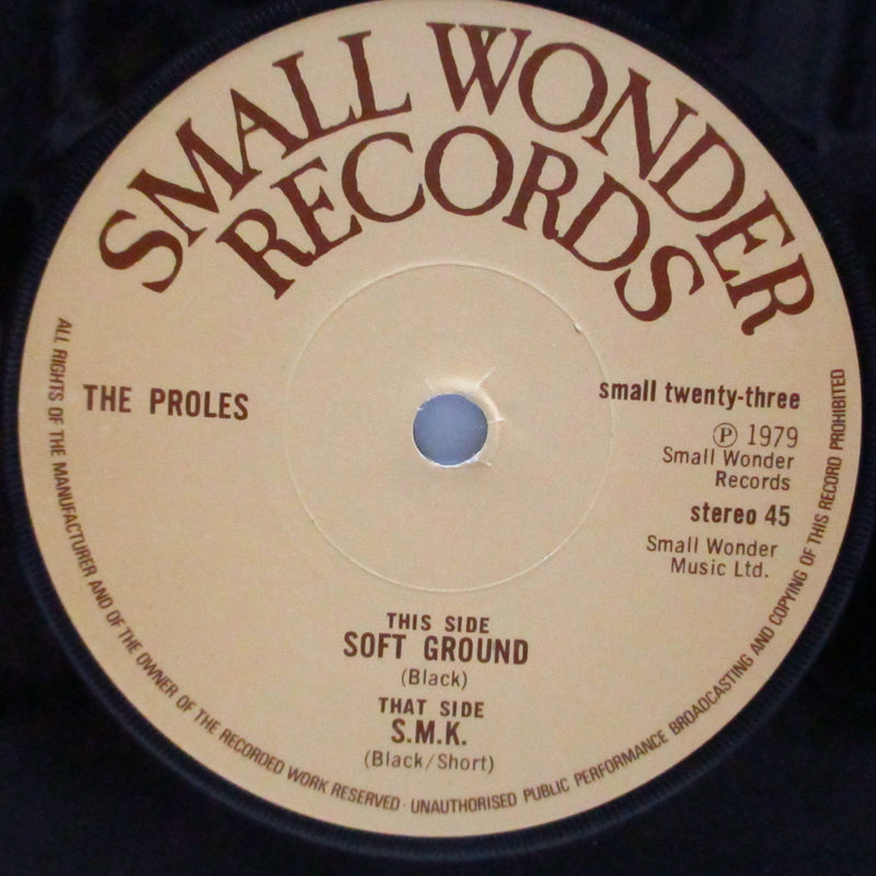 "PROLES, THE - Soft Ground / S.M.K. (UK Orig.7"")"