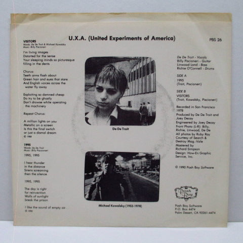 "U.X.A. - 1995 / Visitors (US Orig.7"")"