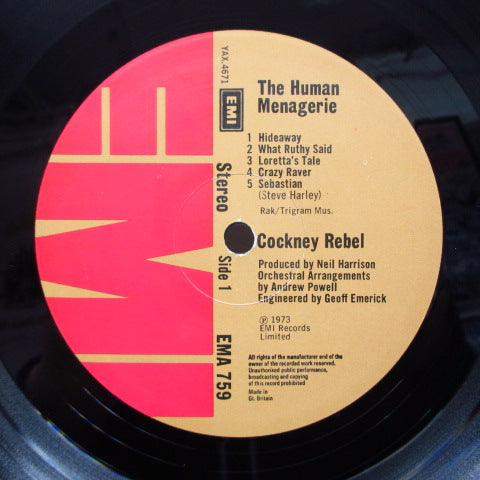 COCKNEY REBEL - The Human Menagerie (UK Orig.LP/GS)