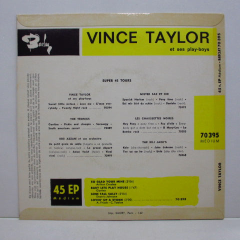 VINCE TAYLOR & PLAYBOYS - So Glad Your Mine +3 (France Orig.EP/CFS)