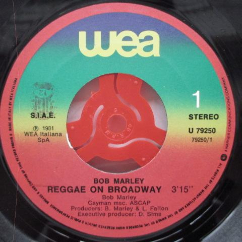 "BOB MARLEY & THE WAILERS - Reggae On Broadway (Italy Orig.7""+PS)"