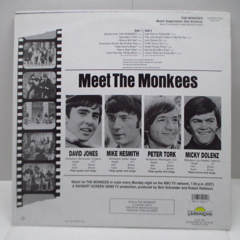 MONKEES - The Monkees (US '96 Re Orange Vinyl Stereo)