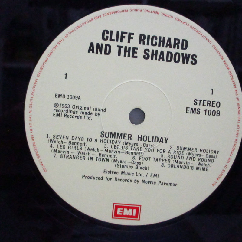 CLIFF RICHARD & THE SHADOWS - Summer Holiday (UK '83 Re LP/EMS 1009)