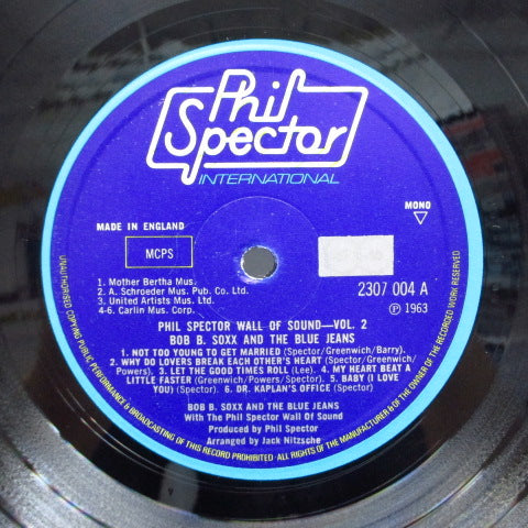 BOB B.SOXX & BLUE JEANS - Phil Spector Wall Of Sound Vol.2 (UK Orig.Mono LP/両面CS)