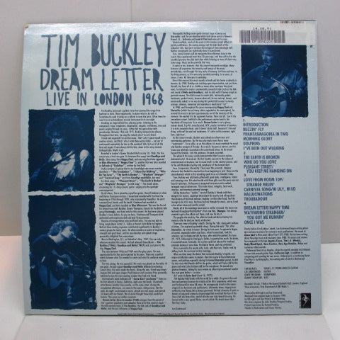 TIM BUCKLEY - Dream Letter : Live In London 1968 (UK:'90 Limited Press)