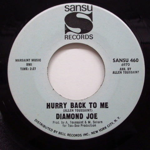 DIAMOND JOE - Hurry Back To Me / Don't Set Back