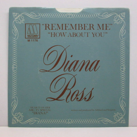 DIANA ROSS - Remember Me (Orig.+Picture Sleeve)