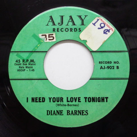 DIANE BARNES - I Need Your Love Tonight (Orig)