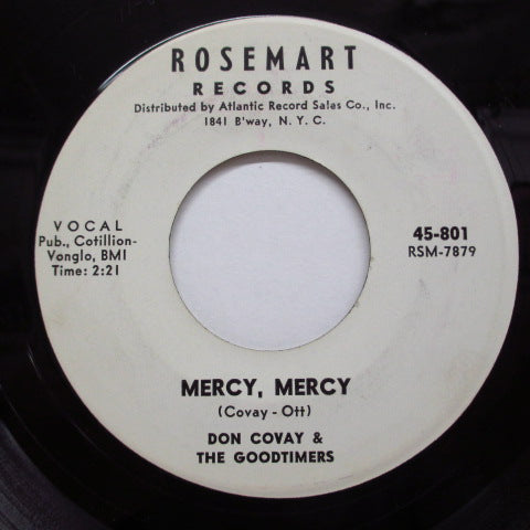 DON COVAY & THE GOODTIMERS - Mercy, Mercy (Promo/Ott Credit)