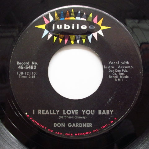 DON GARDNER - I Really Love You Baby (Orig.)