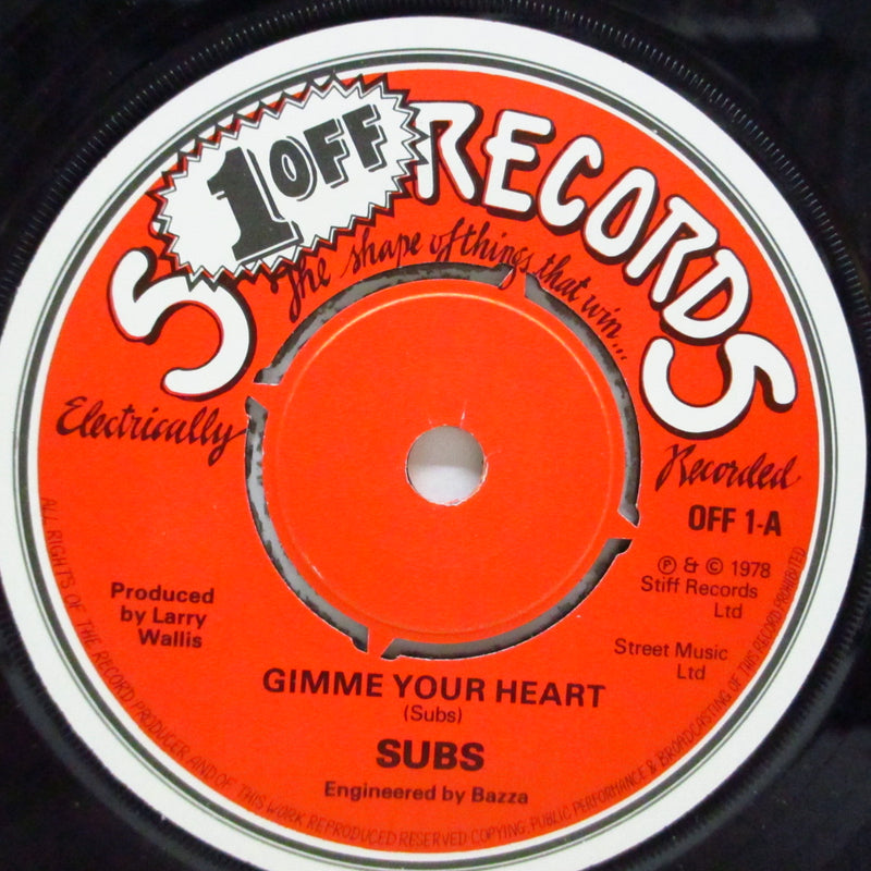 "SUBS (サブス)  - Gimme Your Heart (UK Orig.7"")"