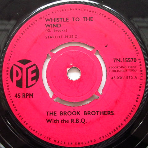 "BROOK BROTHERS with The R.B.Q. - Crosswords / Whistle To The Wind (UK Orig.7"")"