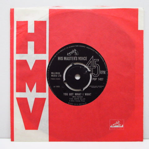 "BOYS BLUE - You Got What I Want (UK Orig.7""+CS)"