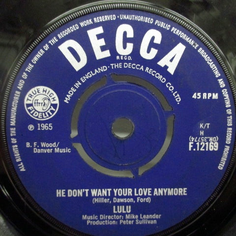 LULU - He Don't Want Your Love Anymore