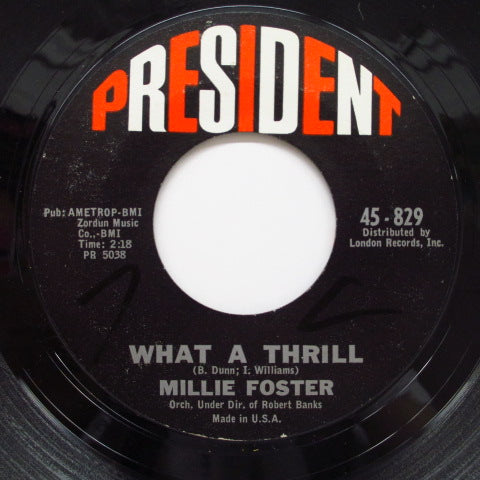 MILLIE FOSTER - What A Thrill (Orig)