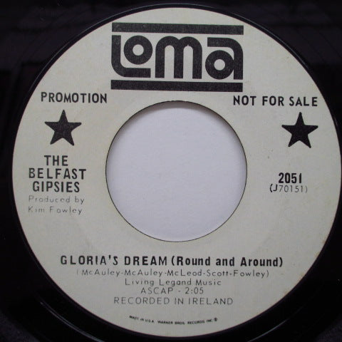 "BELFAST GIPSIES - Gloria's Dream (US Promo 7"")"