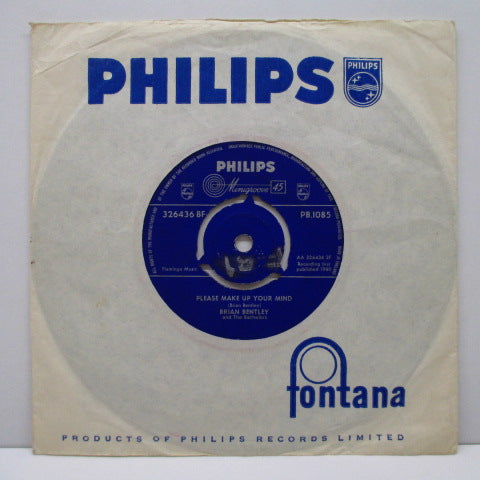 "BRIAN BENTLEY AND THE BACHELORS - Please Make Up Your Mind (UK Orig.7""+CS)"
