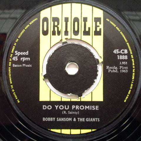 "BOBBY SANSOM & THE GIANTS - Do You Promise (UK Orig.7""+CS)"