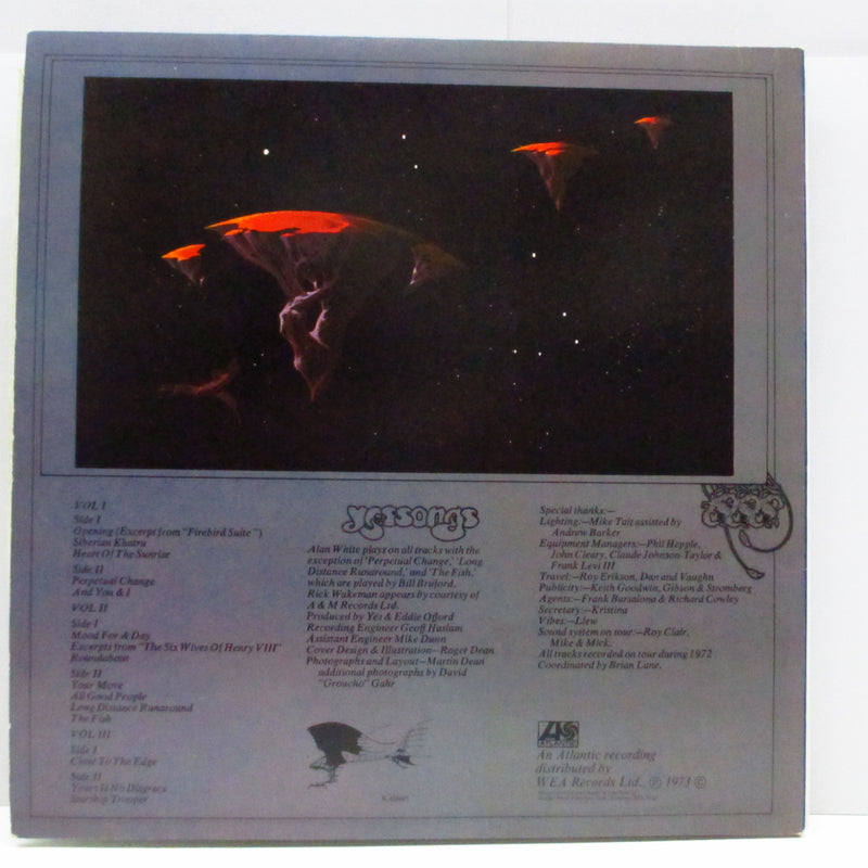 YES - Yessongs (UK 70's Re W Logo Lbl.3xLP/Tri-GS)