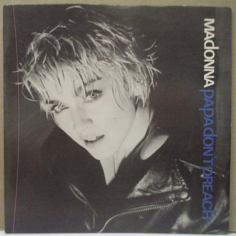 "MADONNA - Papa Don't Preach (UK Orig.Paper Lbl.7""+Glossy PS)"