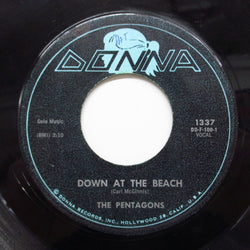 PENTAGONS - Down At The Beach ('61 Donna Reissue)