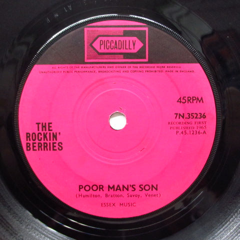 ROCKIN' BERRIES - Poor Man's Son (UK Orig.)