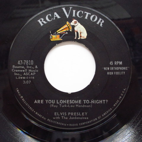 ELVIS PRESLEY - Are You Lonesome Tonight? (Orig)