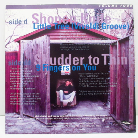 "Shonen Knife / SHUDDER TO THINK-Inside Dave's Garage Vol.4 (US Orig.7 "")"