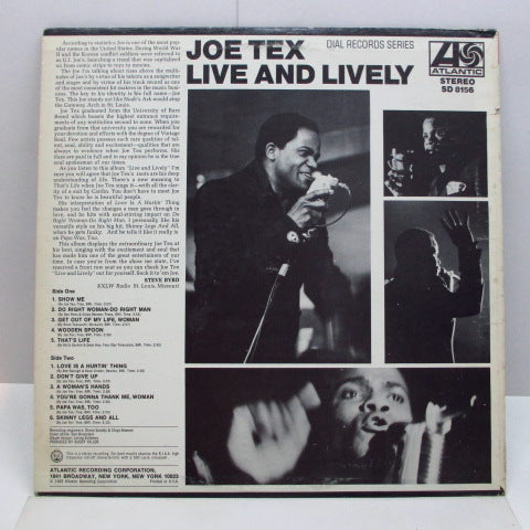 JOE TEX - Live And Lively (US Orig.Stereo LP)