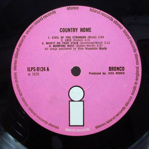 BRONCO - Country Home (1st) (UK Orig.LP/GS)