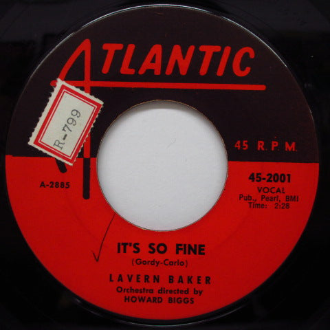 LAVERN BAKER - It's So Fine / Why Baby Why (Orig)