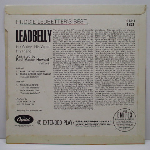 LEADBELLY - Huddie Ledbetter's Best.....(UK Orig.EP/CFS)
