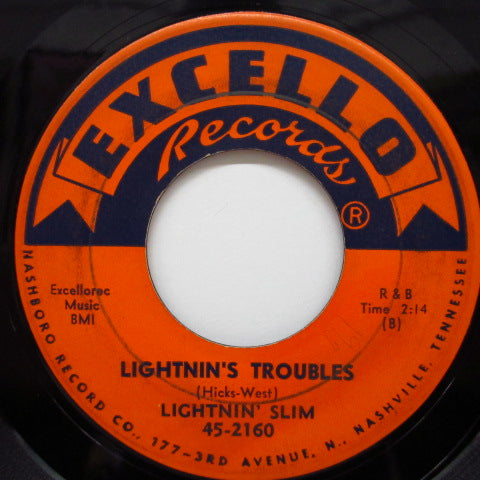 LIGHTNIN' SLIM - Lightnin's Troubles / Sweet Little Woman