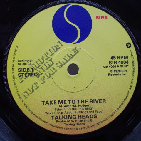 "TALKING HEADS-Take Me To The River (UK Promo.7 "")"