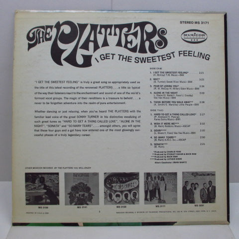 PLATTERS - I Get The Sweetest Feeling (US 70's Re Stereo LP)