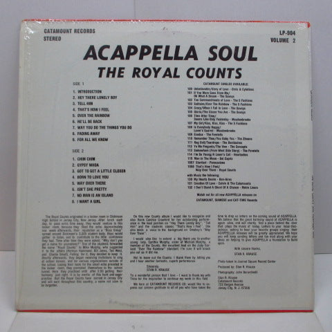 ROYAL COUNTS - Sing Acappella Soul Vol.2 (70's Reissue Stereo)