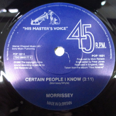 "MORRISSEY-Certain People I Know (UK Orig.7 "")"