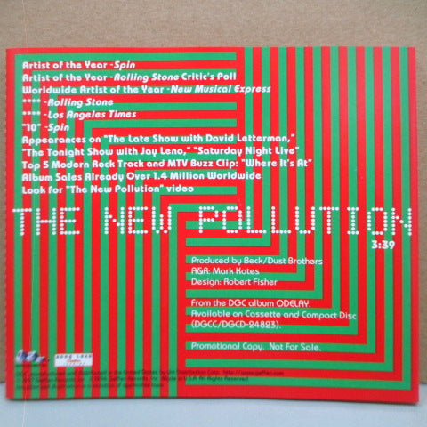 BECK - The New Pollution (US Promo.CD)