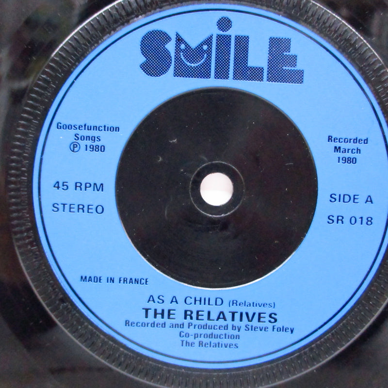 "RELATIVES, THE - As A Child / Say Goodbye Your Body (UK Orig.7"")"