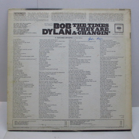 BOB DYLAN - The Times They Are A-Changin' (US '65 2nd Press Stereo)