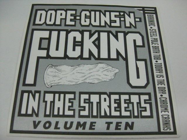 "V.A. - Dope-Guns'-n-Fucking In The Streets Vol.10 (US Ltd.Purple Vinyl 7"")"